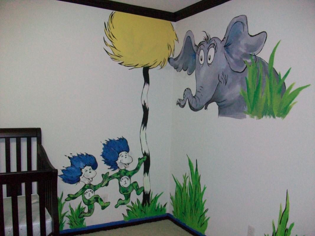 Dr seuss mural the art of brooke t braly for Dr seuss mural